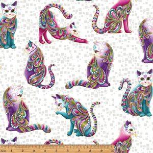 Ann Lauer - Cat-I-tude Artist-O-Cats White/Multi
