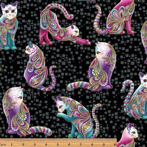 Ann Lauer - Cat-I-tude Artist-O-Cats Black/Multi