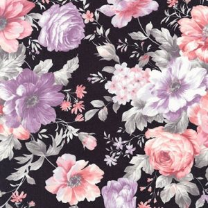 Robert Kaufman - Woodland Blossom SRK-17099-184 CHARCOAL
